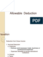 Allowable Deduction