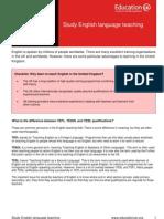 Learning Info Sheets English Teaching