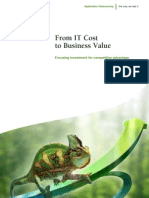 From IT Cost to Business Value