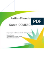 Analisis Financiero Sector Comercio