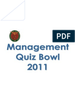 Management Quiz Bowl