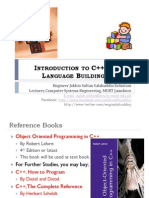 Introduction to C++ and Language Building Blocks