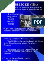 Aula 18 - Congresso de Viena