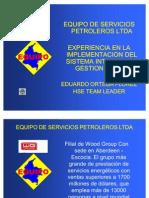 4.Experiencia OHSAS 18000 EQUIPO. Eduardo O.