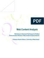 Web Content Analysis Rachel Gibson