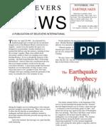 Earthquake Prophecy
