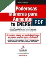 20 Maneras Aumentar Energia