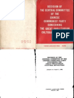 Decision of the Central Committee of the Chinese Communist Party Concerning the Great Proletarian Cultural Revolution