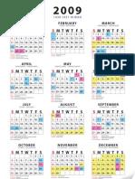 Calendar 2009 +Hijrah 1430-1431