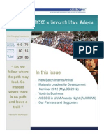 AIESEC UUM Newsletter 2012 Volume 3 Issue 6