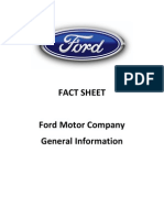 Ford Fact Sheet - Ford Motor Company