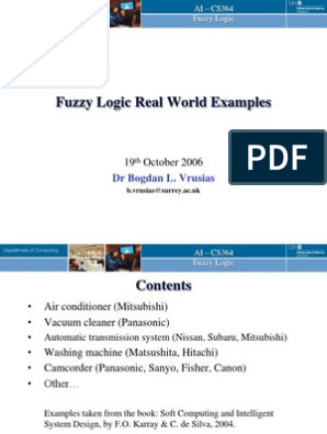 Week7 Fuzzy Real World Eg Fuzzy Logic Air Conditioning