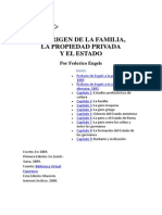 El Origen de La Familia, La Propiedad Privada, Federico Engels 1884