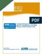 VRF Directory AHRI Certified