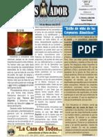"""2012-03-18 :Boletín semanal de """"La casa de Todos"""", EL CONQUISTADOR"""
