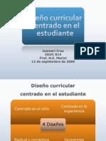 Diseño Curricular Centrado en el Estudiante