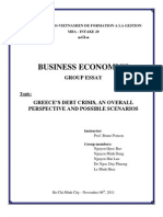 International Business Economics, Greek Debt Crisis' Scenarios