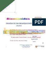 Bienvenida Finanzas en Las Organizaci0nes Ene-jun 2012