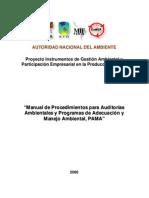 Manual Auditorias y Pamas