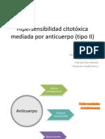 Hipersensibilidad citotóxica mediada por anticuerpo (tipo II