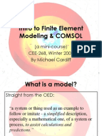 Intro to Finite Element Modeling and COMSOL