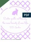 Easter Print Purple