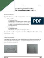 Diagnostic Area Geometriei Rotilor Cu Ajutorul Standului Bosch FWA 43XX