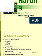 Green Tea Marketing Plan