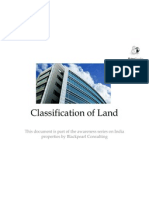 India Property - Basics and Essentials_Classification of Land_by Black Pearl Consulting V1.00