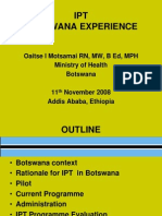 Botswana IPT Progress Report Motsamai Nov 2008