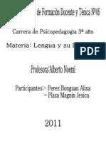 Lengua y Su Didactica.proyecto