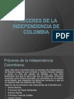 Próceres de la independencia de Colombia