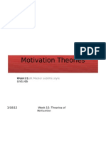 Week 15 Motivation Theories Revised - Student