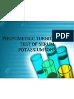 Photo Metric Turbidimetric Test of Serum Potassium Ions