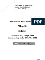 1) Operations and Quality Management) Std
