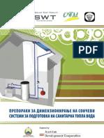Preporaki Za Koristenje Na Soncevata Energija Za Podgotovka Na Sanitarna Topla Voda