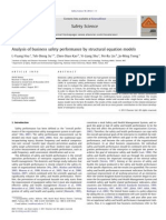 Analysis of Business Safety Performance by Structural Equation Models