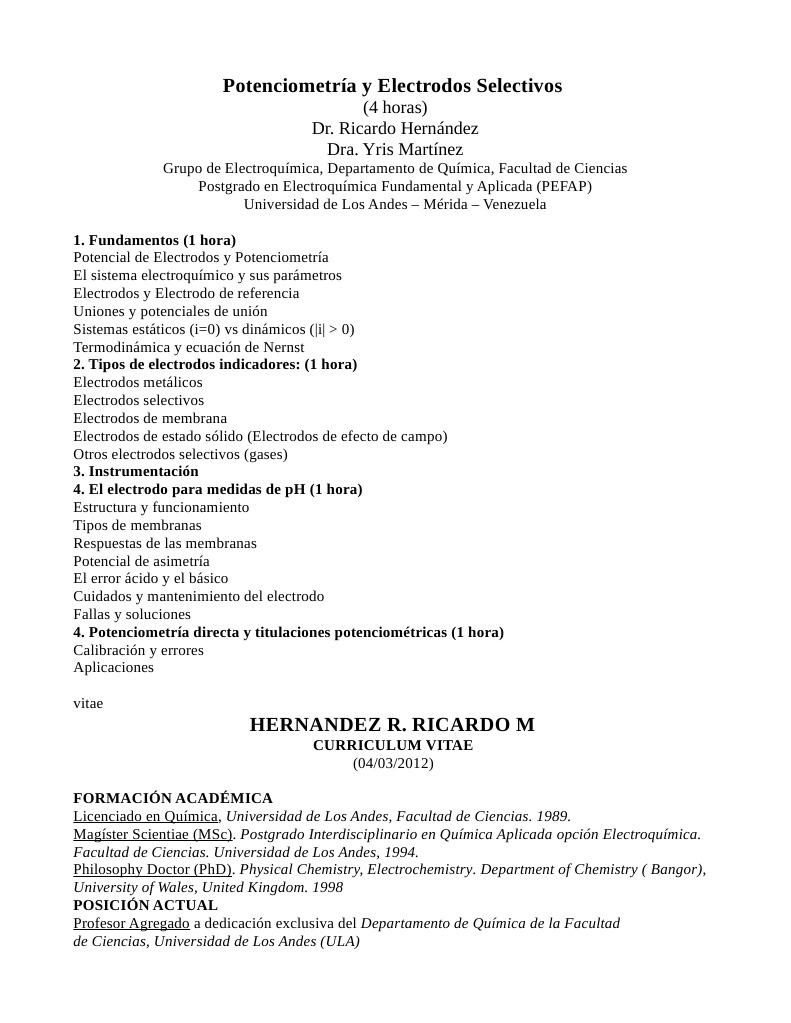 Curriculum Dr Ricardo Hernandez y Dra Iris Martinez