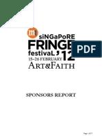 M1SFF12 Sponsors Report