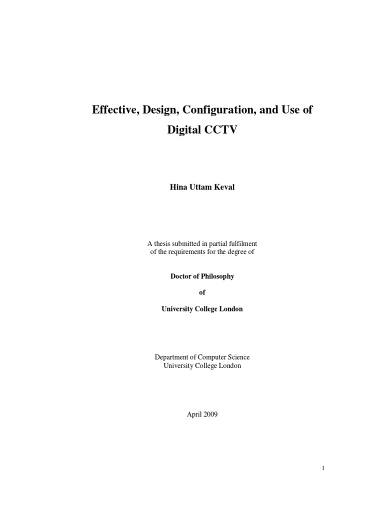 Essay about cctv