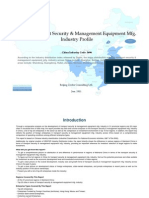 China Transport Security Management Equipment Mfg. Industry Profile Cic3696