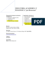 Consultoria Academica y Pedagogic A