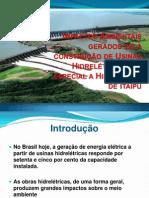 Apresentação - IMPACTOS AMBIENTAIS GERADOS PELA CONSTRUÇÃO DA HIDRELÉTRICA DE ITAIPÚ