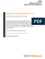 Schedule of Appointments in Routine Antenatal Care