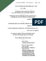 Copyright Royalty Judge Appellant Brief