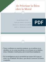 Riesgos de Priorizar la Ética sobre la Moral