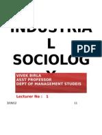 Industrial Sociology 1