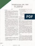 Generalidades del test Dominó