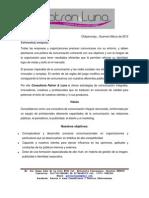 Brochure Patrón & Luna