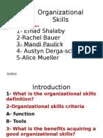 Organizational Skills Project
